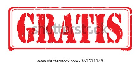 "Grunge rubber stamp with text ""gratis"" inside,vector illustration"