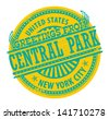 Grunge rubber stamp with text Greetings from Central Park, New York City, vector illustration - stock vector