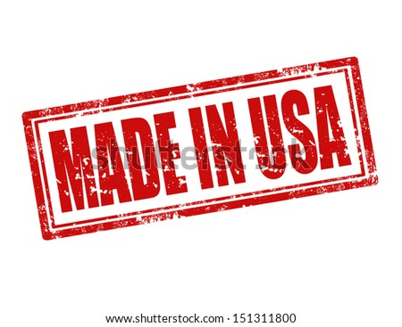 Grunge rubber stamp with text Made in USA,vector illustration - stock vector