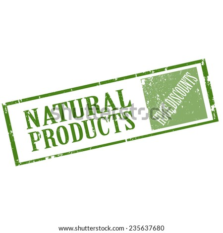 Grunge rubber stamp with text Natural Products,vector illustration