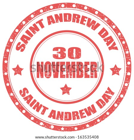 Grunge rubber stamp with text Saint Andrew Day,vector illustration