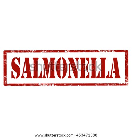 Grunge rubber stamp with text Salmonella,vector illustration - stock vector