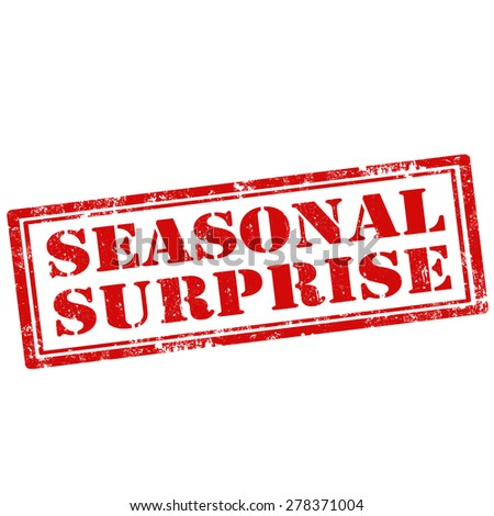 Grunge rubber stamp with text Seasonal Surprise,vector illustration - stock vector