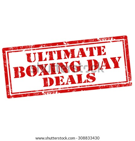 Grunge rubber stamp with text Ultimate Boxing Day Deals,vector illustration - stock vector