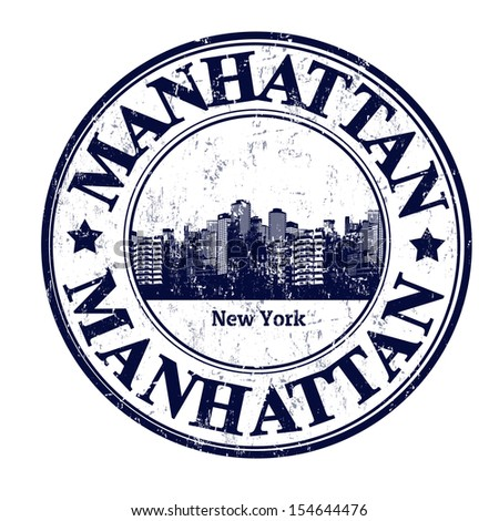 Grunge rubber stamp name manhattan borough stock vector for New york state architect stamp
