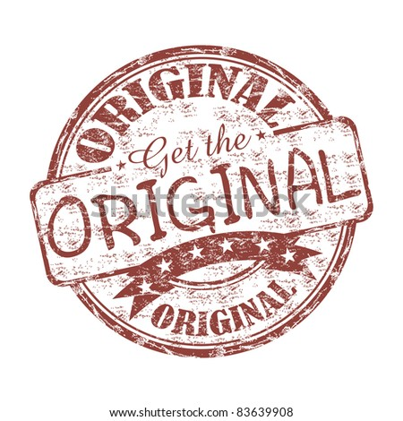 Grunge rubber stamp with the text get the original written inside the stamp - stock vector