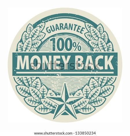 Grunge rubber stamp with the words Money Back written inside the stamp, vector illustration - stock vector