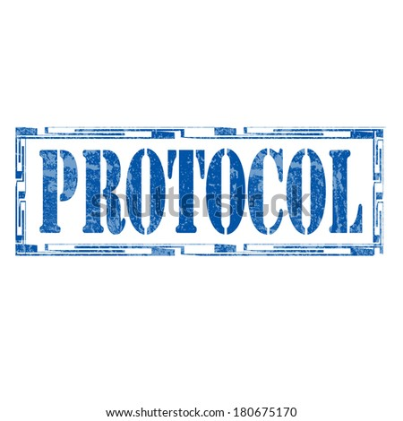 Grunge rubber stamp with word Protocol,vector illustration ...