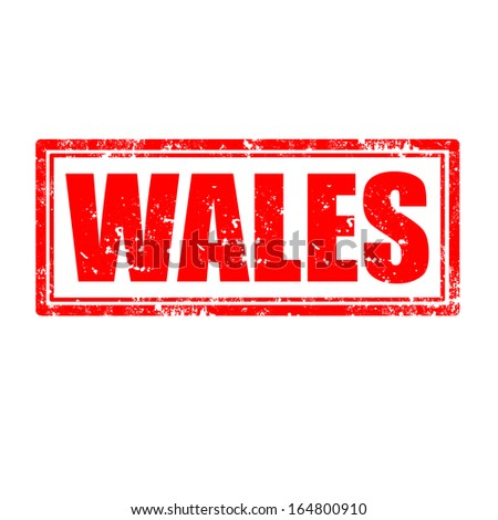 Grunge rubber stamp with word Wales,vector illustration