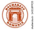 Grunge rubber stamp with words Bucharest, Romania inside, vector illustration - stock vector