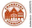 Grunge rubber stamp with words Frankfurt, Germany inside, vector illustration - stock vector