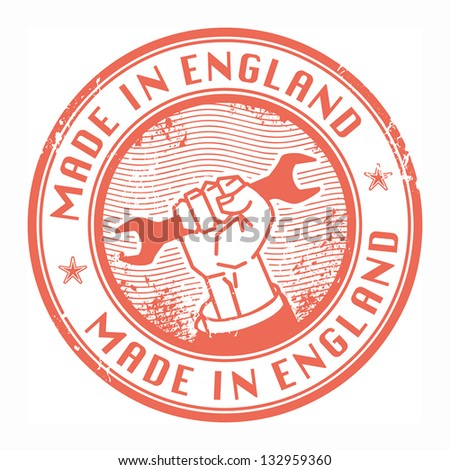 Grunge rubber stamp with words Made in England inside, vector illustration - stock vector
