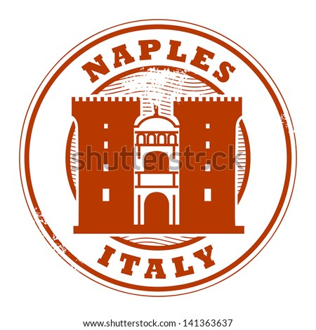 Grunge rubber stamp with words Naples, Italy inside, vector illustration