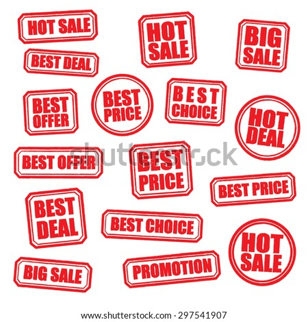 Grunge rubber with text hot sale red stamp set, Illustration Vector eps10