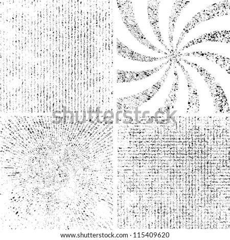 Grunge set stripe. Vector illustration. - stock vector