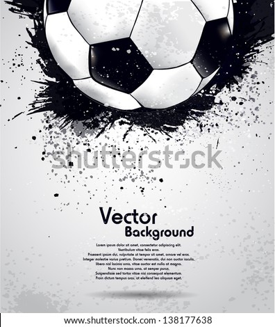 Grunge soccer ball background - stock vector