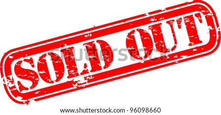 Grunge sold out rubber stamp, vector illustration - stock vector