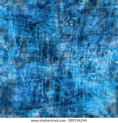 Grunge speckled seamless texture. Scratch vector background. The effect of the canvas or the web. Blue pattern - stock vector
