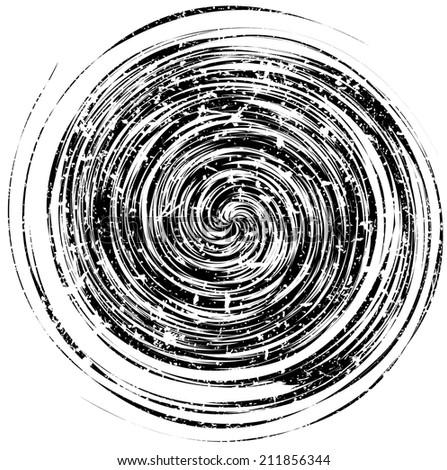 Grunge spiral background. Vector illustration. - stock vector