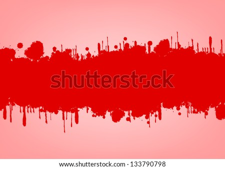 Grunge splashes red set vector