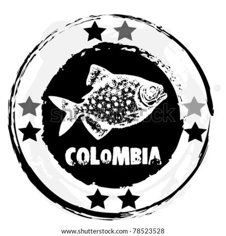 Grunge stamp. American Theme            vector illustration. - stock vector