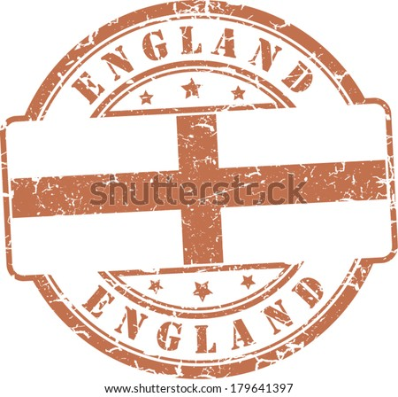 Grunge stamp.English flag