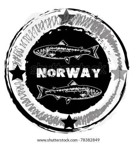 Grunge  stamp. Horwey theme - stock vector