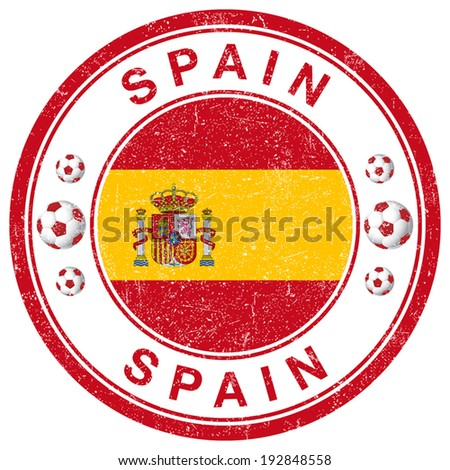 Grunge Stamp of Spain - stock vector