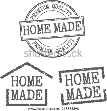 Grunge stamps 'Home made' - stock vector