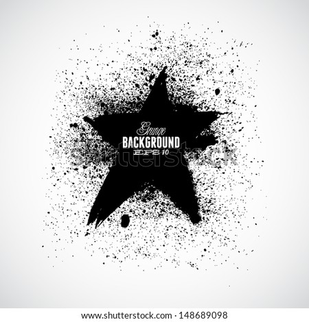 Grunge star - stock vector