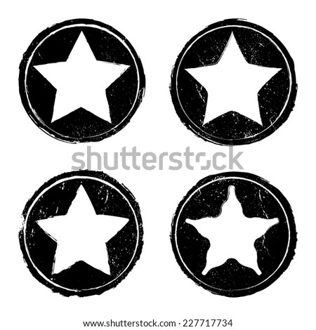 Grunge star stamp background textures set, Vector background EPS 10 - stock vector