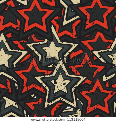grunge stars seamless - stock vector