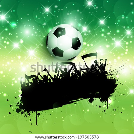 Grunge style background of a football / soccer crowd background