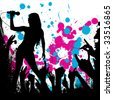 grunge style party background vector - stock photo