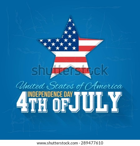 Grunge Style United States of America 4th of July Happy Independence Day Announcement Celebration Message Badge, Poster, Flyer, Card, Background Vector Design