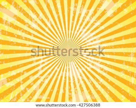 Grunge Sun Sunburst Pattern. Vector illustration, sunburst vector,sunburst retro,vintage sunburst  - stock vector