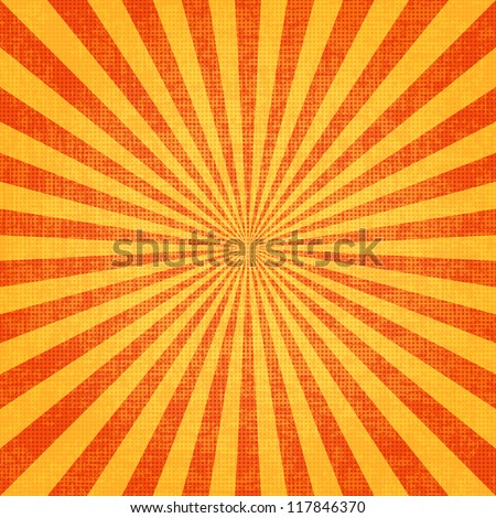 Grunge sunburst vector image - stock vector