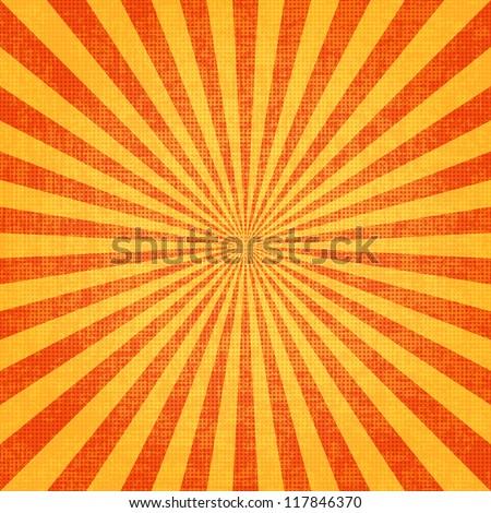 Grunge sunburst vector image - stock vector