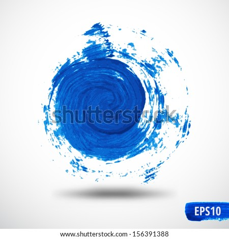 Grunge Swirl Watercolor Abstract Background - stock vector