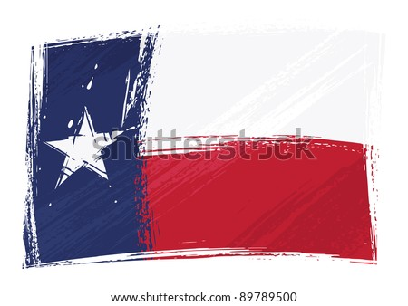 Grunge Texas flag - stock vector