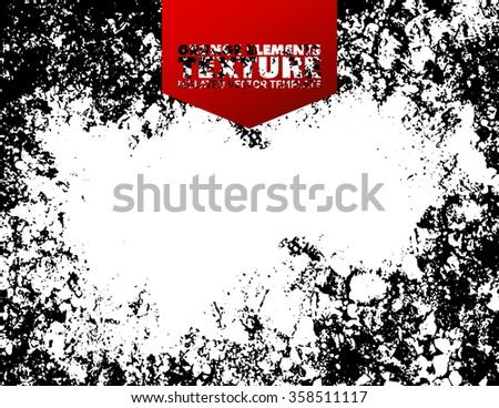 Grunge texture background - abstract isolated stock vector design template - easy to use
