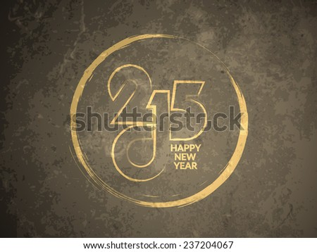 Grunge texture background design of happy new year 2015. vector illustration