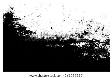Grunge texture.Black and white distress background.Abstract vector template. - stock vector