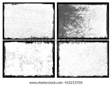 Grunge texture.Grunge frame.Vector distress background. - stock vector