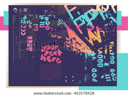Grunge texture.Grunge vector background for text