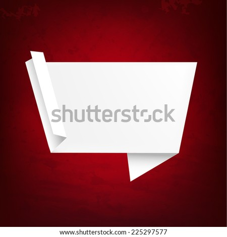 Grunge Texture With Origami Banner With Gradient Mesh, Vector Illustration