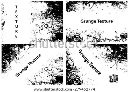 Grunge textures set, Vector background illustration - stock vector