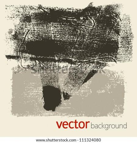 Grunge textures, vector set 5 - stock vector