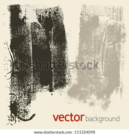 Grunge textures, vector set 4 - stock vector