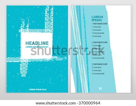 Grunge Tire Brochure - stock vector